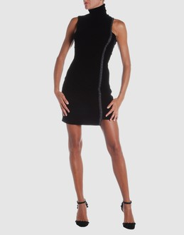 Versace jeans couture Women - Dresses - Short dress Versace jeans couture on YOOX :  black dress minidress visco