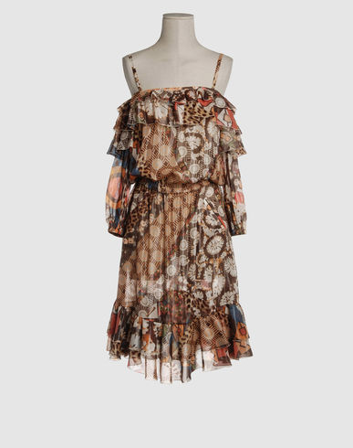 JUST CAVALLI Women - Dresses - 3/4 length dress JUST CAVALLI on YOOX from yoox.com