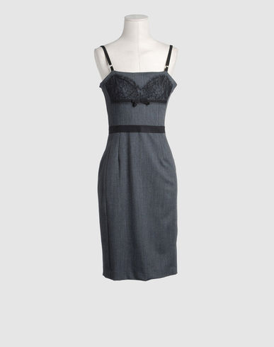D&G Women - Dresses - 3/4 length dress D&G on YOOX :  lingerie inspired lingerie dress d and g dress