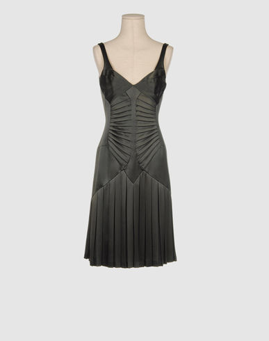 ZAC POSEN Women - Dresses - 3/4 length dress ZAC POSEN on YOOX :  spring pleated summer grey