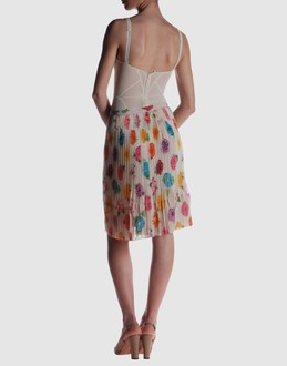 Kenn scott Women - Skirts - Knee length skirt Kenn scott on YOOX :  printed flower print chiffon knee length skirt