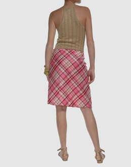 Easy Women - Skirts - Knee length skirt Easy on YOOX :  pink printed tartan knee length skirt