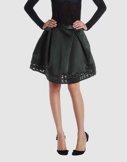 Viktor & rolf Women - Skirts - Knee length skirt Viktor & rolf on YOOX :  knee length black viktor rolf detailing