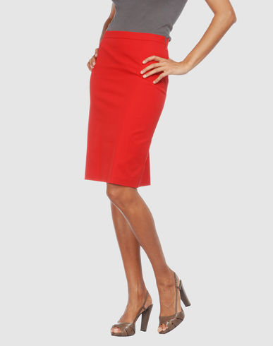 CHEAP & CHIC MOSCHINO Women - Skirts - Knee length skirt CHEAP & CHIC MOSCHINO on YOOX :  moschino cheap and chic red skirt moschino skirt