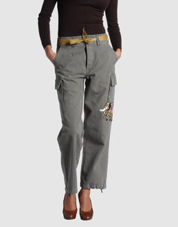 PLEASE Women - Pants - Casual pants PLEASE on YOOX :  pants cropped embroidered affordable