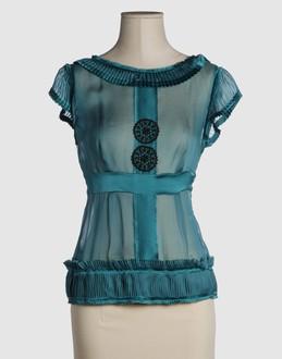 ALBERTA FERRETTI Women - Shirts - Blouse ALBERTA FERRETTI on YOOX :  blouse alberta ferretti sheer bodice boat neckline