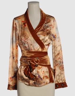 TIZIANO MAZZILLI Women - Shirts - Blouse TIZIANO MAZZILLI on YOOX :  silk obi sash v-neckline silk velvet