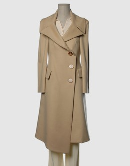 Vivienne westwood red label Women - Coats & jackets - Coat Vivienne westwood red label on YOOX :  knee length beige modern clothing