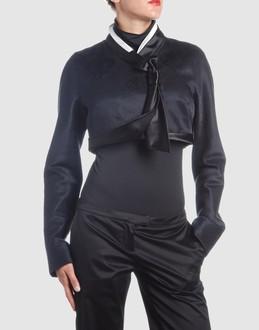 Alexander mcqueen Women - Coats & jackets - Blazer Alexander mcqueen on YOOX :  wool boning contrassting short