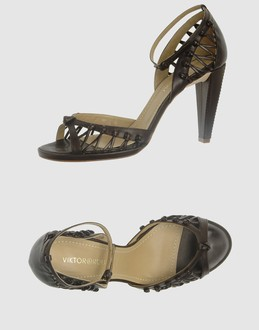 Viktor & rolf - Footwear - High-heeled sandals Viktor & rolf on YOOX :  leather chocolate brown shoes sandals
