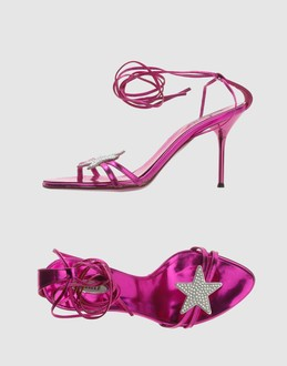 Le silla Women - Footwear - High-heeled sandals Le silla on YOOX :  star high heels pink bright pink