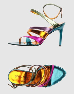 GIANNA MELIANI Women - Footwear - High-heeled sandals GIANNA MELIANI on YOOX :  leather multicolor women metallic