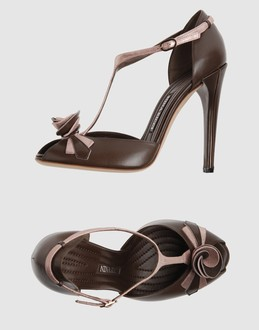 NINA RICCI Women - Footwear - High-heeled sandals NINA RICCI on YOOX :  nina ricci women brown accessories