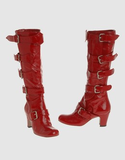 Vivienne westwood Women - Footwear - Boots Vivienne westwood on YOOX :  leather buckles red tall