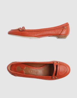 CHLOE' Women - Footwear - Ballet flats CHLOE' on YOOX :  loafers orange ballet flats shoes
