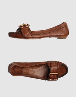 CHLOE' Women - Footwear - Moccassins CHLOE' on YOOX :  loafers car shoes stitch detail flats