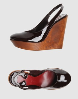 Chloe' Women - Footwear - Wedge Chloe' on YOOX :  wedge high wedge patent leather chloe