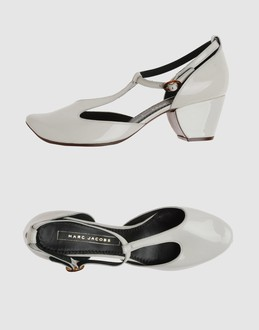 MARC JACOBS Women - Footwear - Closed-toe slip-ons MARC JACOBS on YOOX :  t-strap buckle marc jacobs round toe