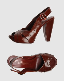 Marc jacobs Women - Footwear - Wedge Marc jacobs on YOOX :  leather brown banana heels sandals