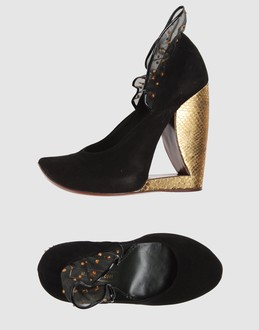 Marc jacobs Women - Footwear - Wedge Marc jacobs on YOOX :  suede banana heels marc jaco shoes