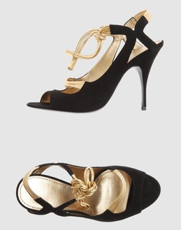 Givenchy Women - Footwear - High-heeled sandals Givenchy on YOOX :  tie black givenchy leather