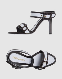 Dsquared2 Women - Footwear - High-heeled sandals Dsquared2 on YOOX :  nylon contrasting dsquared2 sexy