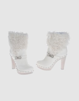 D&g Women - Footwear - Ankle boots D&g on YOOX :  rubber sole white boots d g