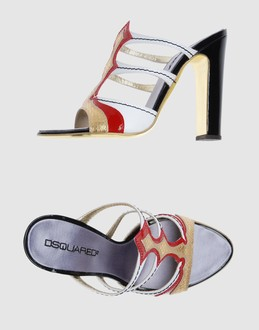 Dsquared2 Women - Footwear - High-heeled sandals Dsquared2 on YOOX :  leather heels laminated leather stitch detailing