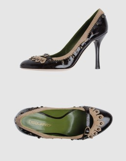 Dsquared2 Women - Footwear - Closed-toe slip-ons Dsquared2 on YOOX :  pumps dsquared2 leather coat heels