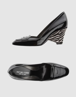 Sergio rossi Women - Footwear - Wedge Sergio rossi on YOOX :  wedge black leather heel
