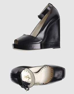 Yves saint laurent Women - Footwear - Wedge Yves saint laurent on YOOX :  wedge ankle ankle belt funky