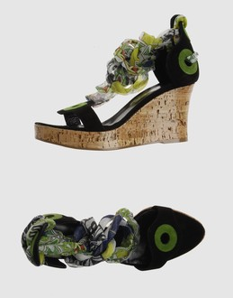 DIRK BIKKEMBERGS Women - Footwear - Wedge DIRK BIKKEMBERGS on YOOX :  suede wedges embellishments leather
