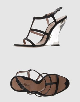 ALAIA Women - Footwear - Wedge ALAIA on YOOX :  wedges leather silk women
