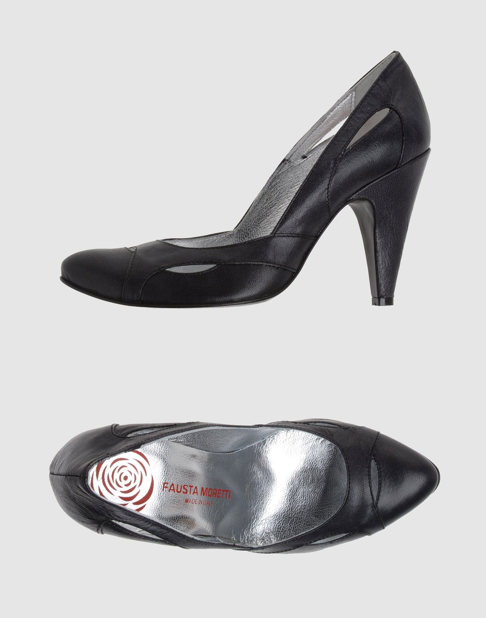FAUSTA MORETTI Women - Footwear - Closed-toe slip-ons FAUSTA MORETTI on YOOX :  black leather women shoes