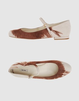 MIU MIU Women - Footwear - Ballet flats MIU MIU on YOOX :  miu footwear yoox women