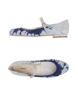MIU MIU Women - Footwear - Ballet flats MIU MIU on YOOX