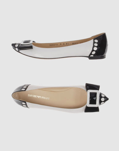 EMPORIO ARMANI Women - Footwear - Ballet flats EMPORIO ARMANI on YOOX :  ballet flat black and white ballet flats shoes