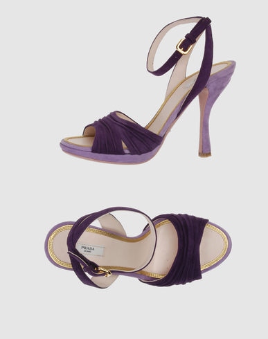 PRADA Women - Footwear - High-heeled sandals PRADA on YOOX :  purple pumps purple sandals pumps prada
