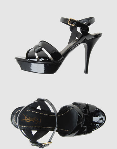 YVES SAINT LAURENT RIVE GAUCHE Women - Footwear - High-heeled sandals YVES SAINT LAURENT RIVE GAUCHE on YOOX :  spring platforms heels sandals