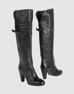 O'DAN LI  High-heeled boots  :  leather boot boots womens shoes high heeled boots