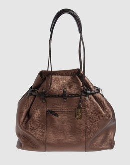 Hogan Women - Bags - Large leather bag Hogan on YOOX :  handbag black leather hogan