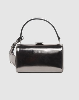 Jil sander Women - Bags - Small leather bag Jil sander on YOOX :  laminated black leather classic