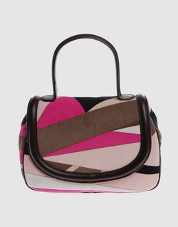 Emilio pucci Women - Handbags - Medium fabric bag Emilio pucci on YOOX :  pink hot pink satin brown
