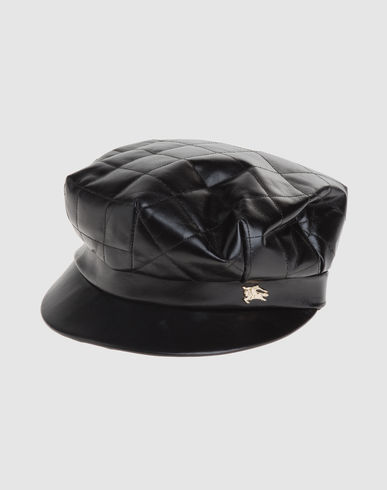 BURBERRY Women - Accessories - Hat BURBERRY on YOOX :  black leather burberry quilted