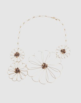 DELPHINE CHARLOTTE PARMENTIER Women - Jewelry & watches - Necklace DELPHINE CHARLOTTE PARMENTIER on YOOX :  necklace wire daisies swarovski pearls