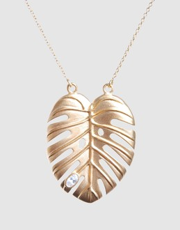 JULIE SANDLAU Women - Jewelry & watches - Necklace JULIE SANDLAU on YOOX :  necklace banana leaf leaf necklace leaf