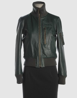 Mcq Women - Leatherwear - Leather outerwear Mcq on YOOX :  jacket leather bomber jacket designer clothing waist length
